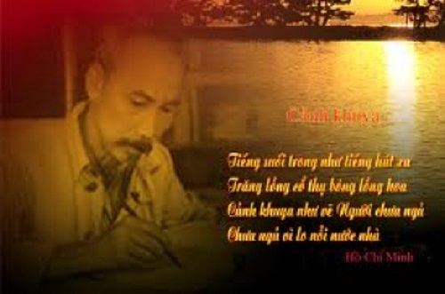Phát biểu cảm nghĩ về bài thơ Cảnh khuya của Hồ Chí Minh